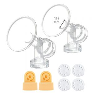 19mm medela flanges with connectors